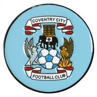 Official Coventry City Golf Ball Marker Large Metal Double Sided Sky Blues 25mm