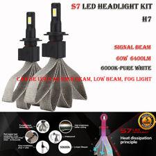 2x Fanless H7 LED Headlight Kit 12V 6000K Xenon White Bulb Super Bright Foglamp