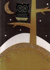 Lujo' búho' 3d Tarjetas De Navidad Con Árbol De Adorno Especial Navidad tarjeta de saludo