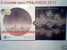 2011 9 monedas euro FINLANDIA finlande Finlandia II serie con conmemorativo
