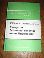 Essays on Economic Behavior under Uncertainty Vol. 88 (1974, Hardcover)