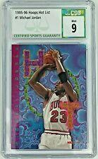 1995-96 Hoops Basketball Hot List #1 Michael Jordan CSG 9 MINT Bulls HOF Rare!