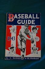 Baseball Guide and Record Book 1943 Spink Sporting News