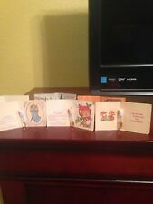 Avon Christmas Sample Cardboard Folders with vials - Set of 6 - 1983 - Free Ship