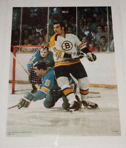 1971 Action Sport Ken Hodge Poster Bruins Sealed in Plastic Mint