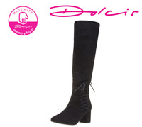 Details about  /Ladies Spot On Pull on// Inner Zip Knee High Boot EE Wide Fit F5R1088