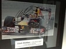 Mark Webber Hand Signed Photo with COA Red Bull Framed And Mounted F1