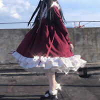 Girl Lady Lolita Dress Ruffles Swing Kawaii Cute Retro Cosplay Vintage Cute Soft