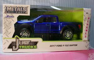 2017 Ford F-150 Raptor ✰ Azul ✰ Sólo Vagones ✰ 2019 Jada ✰ 1 :3 2 Metal Diecast