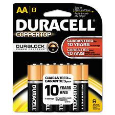 Duracell Coppertop Alkaline Batteries Duralock Power Preserve Technology Aa 8/pk