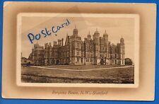 POSTCARD BURHLEY HOUSE NW STAMFORD LINCOLNSHIRE NR PETERBOROUGH 1910 AYLSHAM P/M