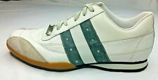Rule by Steve Madden Men's White Leather Sneakers & Black Stripes ~ Size 8