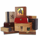 SET OF 10: Empty WOODEN Cigar Boxes [Set/10]