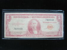 DOMINICAN REPUBLIC 1 PESO P91 DOMINICANA 10# WORLD CURRENCY BANKNOTE MONEY