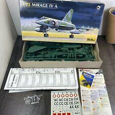 Authentic Vintage Heller AMD Mirage IV A 80351 1/72 Scale Model Kit
