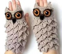 Hand Warmer Crochet Gloves Kids Winter Owl Mittens For Children Baby Boys Girls