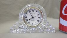 993D Vtg Godinger Crystal Legends Mantle Stlye Crystal Qtz. Clock w/Second Hand