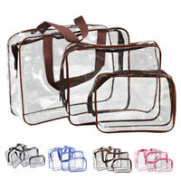 3x/set Cosmetic Makeup Bag Toiletry Clear PVC Travel Wash Organizer Holde Gift