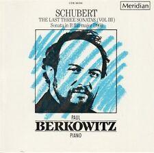 Schubert: The Last Three Sonatas (Vol. 3) - Paul Berkowitz (Piano) / CD neu