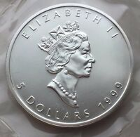 1999 CANADA 1 OZ SILVER MAPLE LEAF $5 COIN FREE SHIPPING