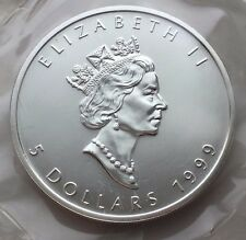 1999 CANADA 1 OZ SILVER MAPLE LEAF $5 COIN FREE SHIPPING