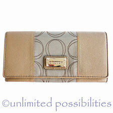 Oroton Roche Plaster Leather Jacquard Large Slim Clutch Wallet