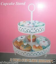 Cupcake 2 Tier Metal 11 Cup Stand Holder (Beige)