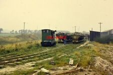 PHOTO  1962 CORFE CASTLE DORSET SHUNTING AT NORDEN SHUNTING SIDE-TIPPING WAGONS