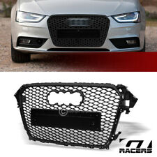 For 2013-2016 Audi A4/S4 Matte Black RS Honeycomb Mesh Front Bumper Grill Grille
