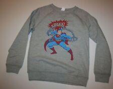 New Gymboree Boys 10 12 Superman Hero Pull Over Sweatshirt Top Gray