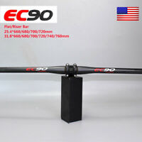 25.4/31.8*660-760mm Bar MTB Mountain Bike Bicycle 3K Carbon Flat Riser Handlebar