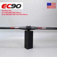 25.4/31.8*660-760mm Bar MTB Mountain Bike Bicycle 3K Carbon Flat Riser Handlebar