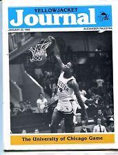 Yellowjacket Journal Magazine January 23 1988 vs. U of Chicago EX 053117nonjhe