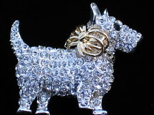 NIB NAPIER YORKIE WESTIE SCOTTIE SCOTTISH TERRIER DOG PIN BROOCH JEWELRY 2.25""