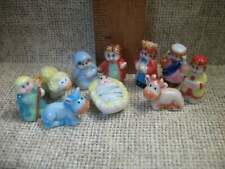 Childrens NATIVITY Set  10 pcs Creche -  French Feve Feves Porcelain Miniature