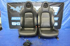 2005 HONDA S2000 AP2 F22C OEM BLACK LEATHER FRONT SEATS W/ SPEAKERS #3206