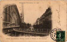 CPA PARIS EXPO 1900 - Galerie des Machines Trottoir roulant (306867)