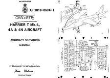 Harrier Jump Jet Service Maintenance Manual T4 Mk4 RARE RAF 1980's vtol CD AP