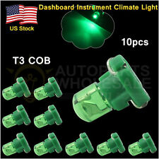 10× Green T3 New Wedge COB LED Bulbs Instrument Panel Gauge Lamp Light 12V