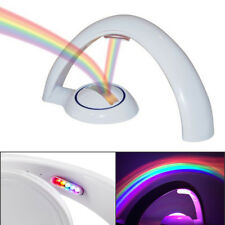Rainbow LED Colorful Night Projector Light Lamp Nursery Bedroom Decors Kids Gift