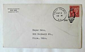 US military cover 1931 St. Thomas to Piqua OH Ohio Virgin Islands Caribbean