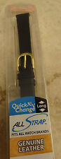 New Ladies Genuine Calfskin Calf Black 12mm Regular to LONG Watch Band Strap
