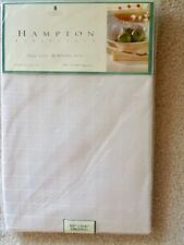 """New listing New! Hampton Tablecloth 60""""x104"""" Wrinkle Free Ivory 100% Polyester"""