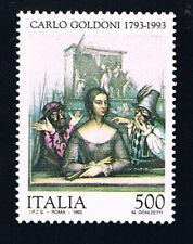 ITALIA FRANCOBOLLO CARLO GOLDINI COMMEDIOGRAFO MEZZETTINO 1993 nuovo** (BI11.987