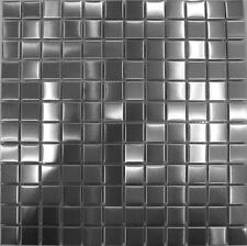 Brushed Stainless Steel Metal Mosaic Wall Tiles Bathroom Kitchen Sheet MT0036