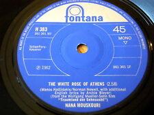 """NANA MOUSKOURI - THE WHITE ROSE OF ATHENS  7"""" VINYL"""