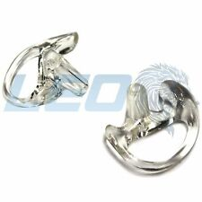 Left and Right Medium Pair Ultra Clear Earmold Earpieces For Surveillance Wire