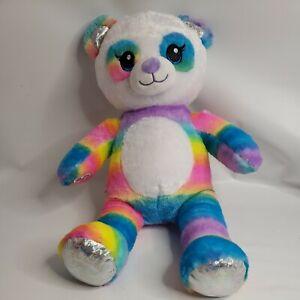B-A-B Rainbow PANDA Friend Build-a-Bear Plush Stuffed Animal Sweet Soft Sparkle