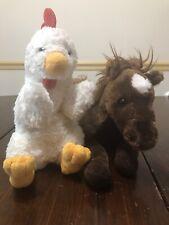 Aurora Stuffed Animals Horse & Chicken Hand Puppet
