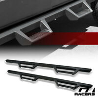 For 2015-2020 F150/F250 Super Crew Matte Black Hoop Drop Step Side Nerf Bars v2